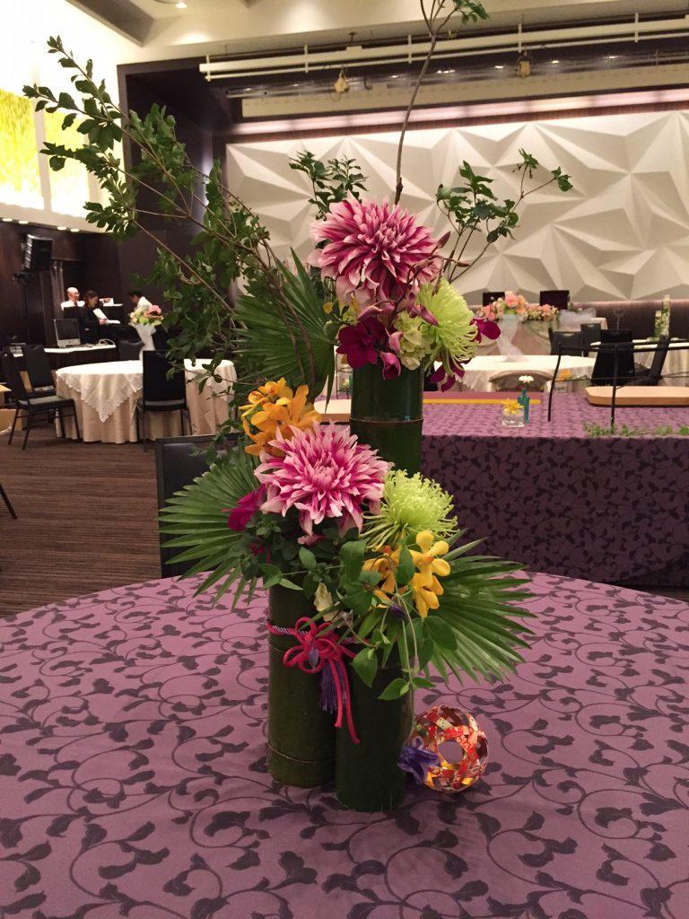 ブライダルフェア 和風の装花